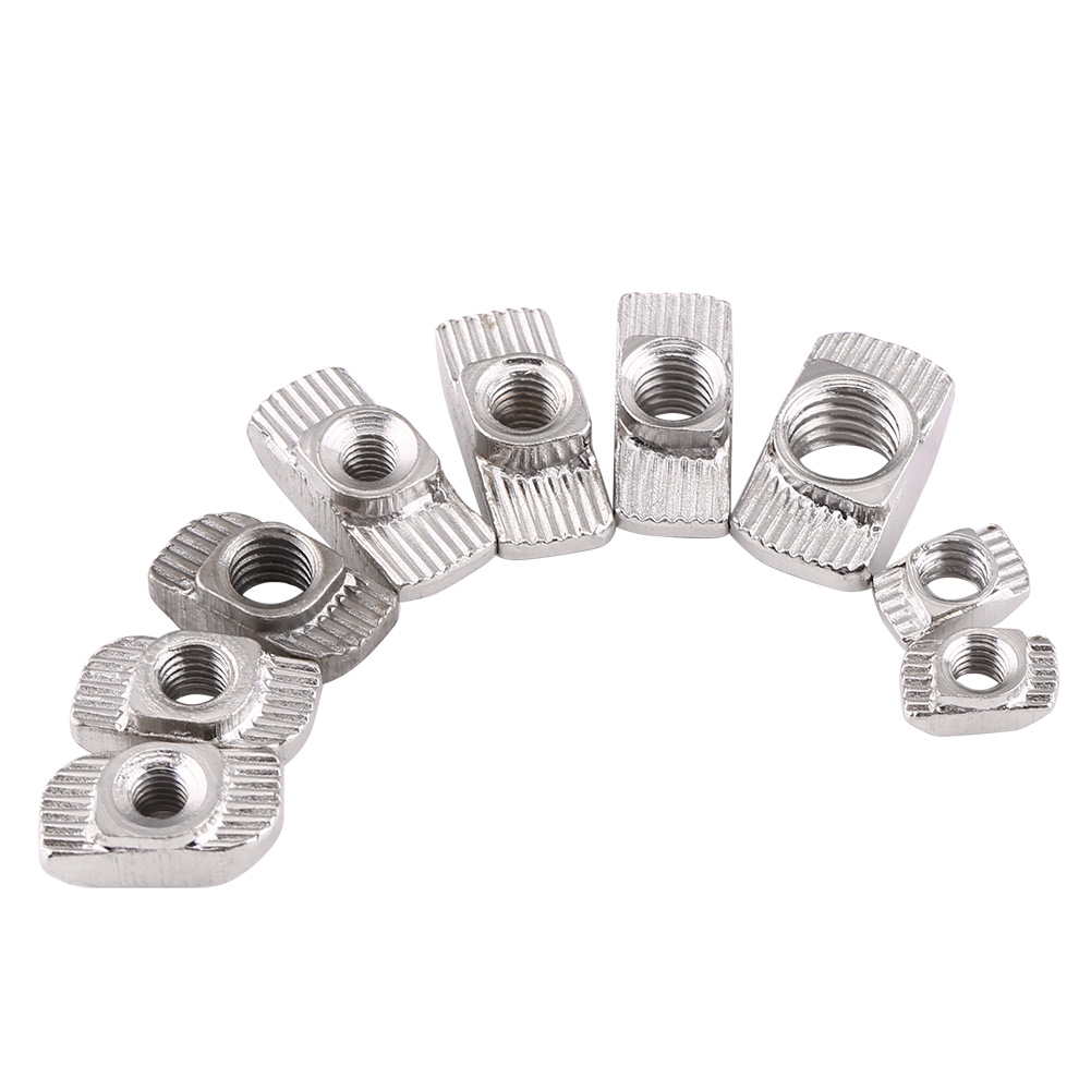 50x m4 m5 m6 m8 t slot nut 20 30 40 series european aluminum profile ebay. Black Bedroom Furniture Sets. Home Design Ideas